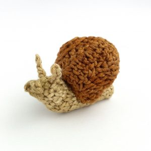 Picture of Little Conkers snail in ethically-sources bamboo yarn