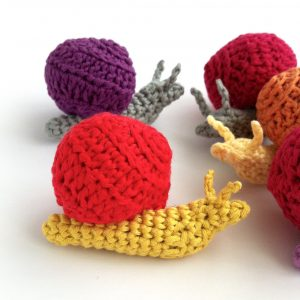 Picture of colourful Little Conkers Mindful Snails