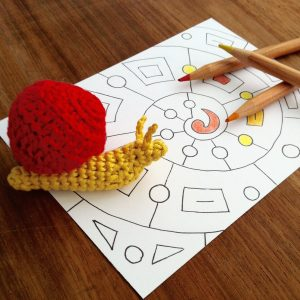 Picture of a Little Conkers Snail with a hand-drawn mandala