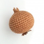Picture of a hand-crocheted onion