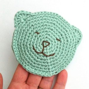 Baby Wash Mitt Crochet Pattern made to an original Little Conkers pattern