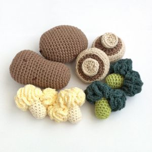 Picture of crocheted vegetables