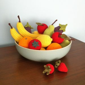 Picture of crocheted fruit and vegetables