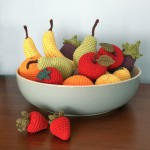 Hand-crocheted fruit and vegetables made to original Little Conkers crochet patterns.