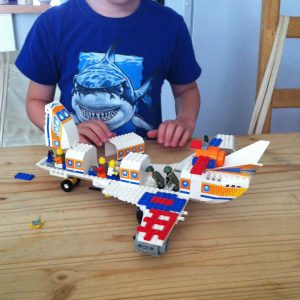 Picture of large aeroplane made in Lego