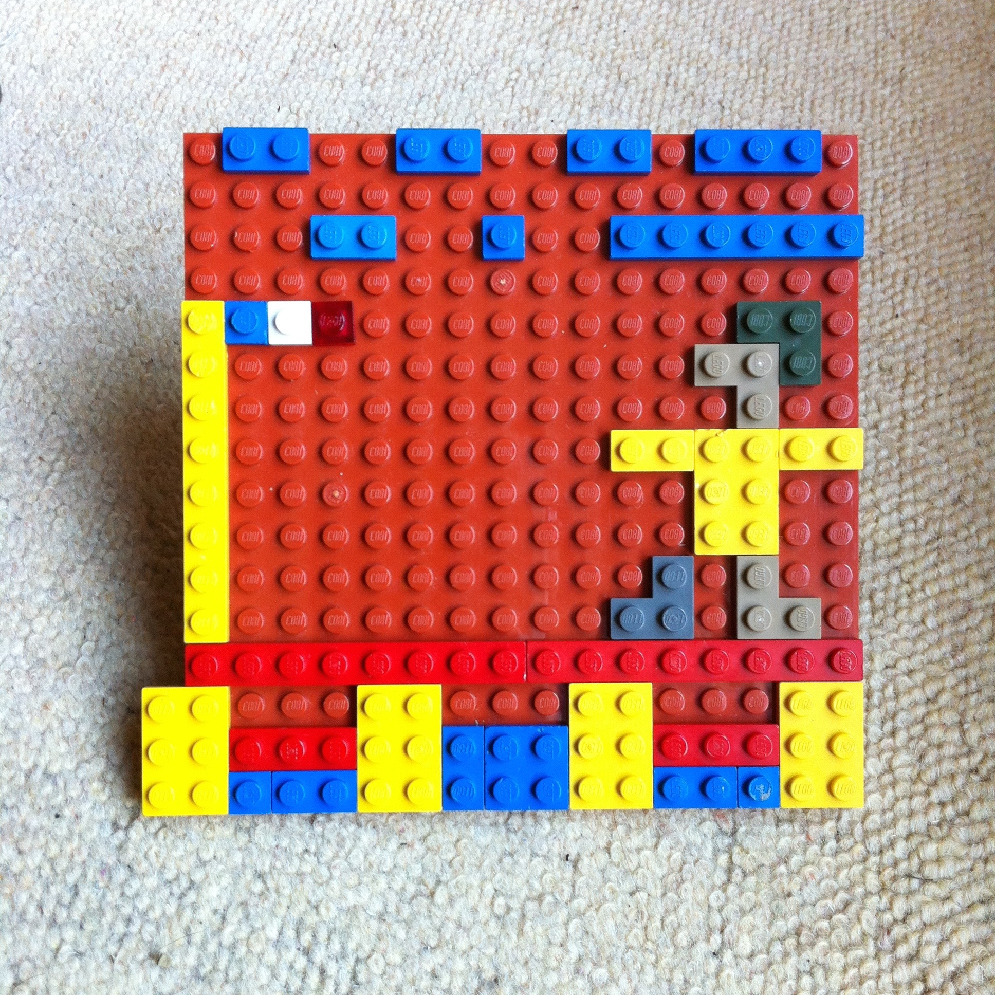 Picture of a mosaic made from Lego