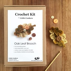 Oak Leaf Brooch Crochet Kit