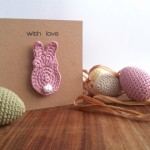 Bunny Brooch Greetings Card