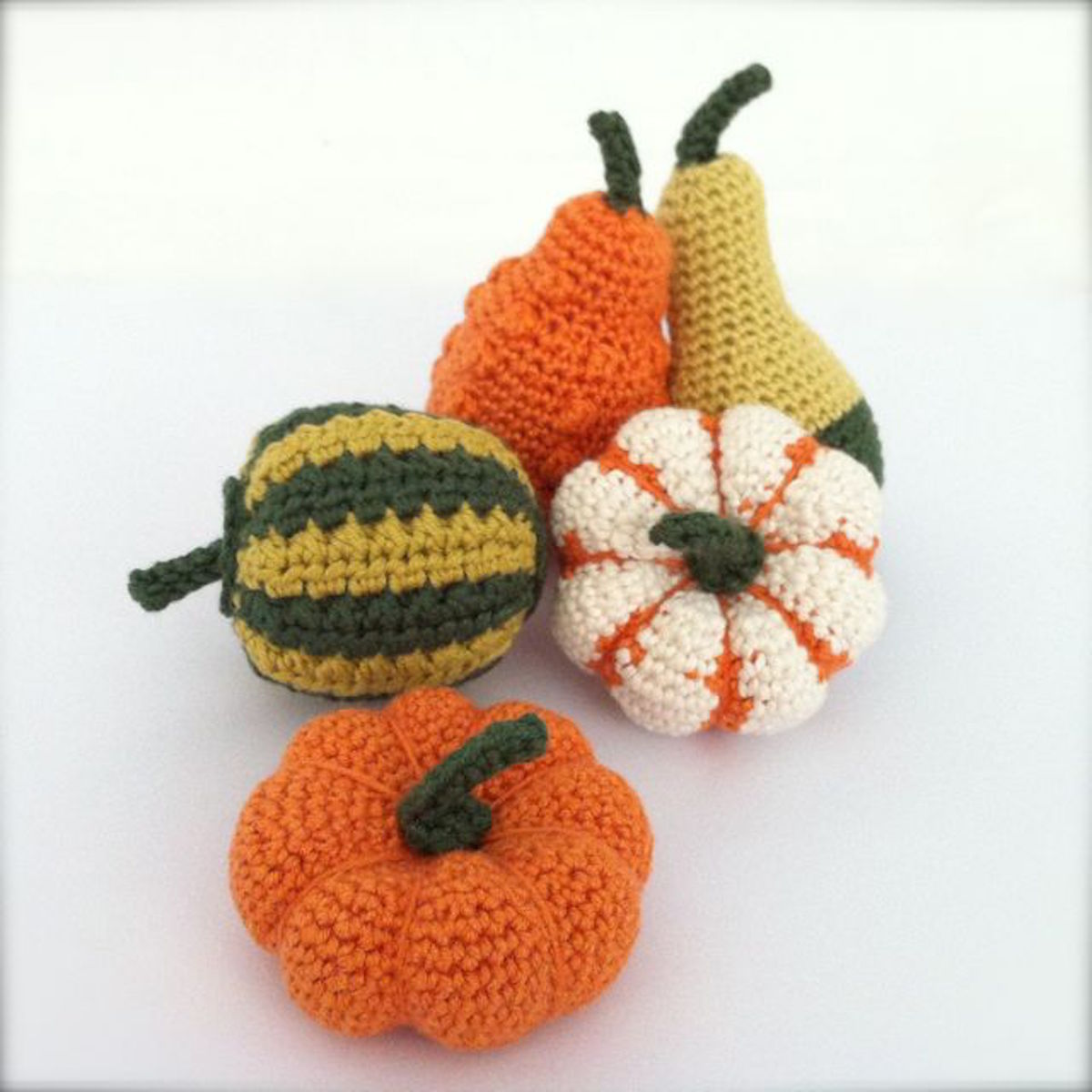 Picture of hand-crocheted gourds