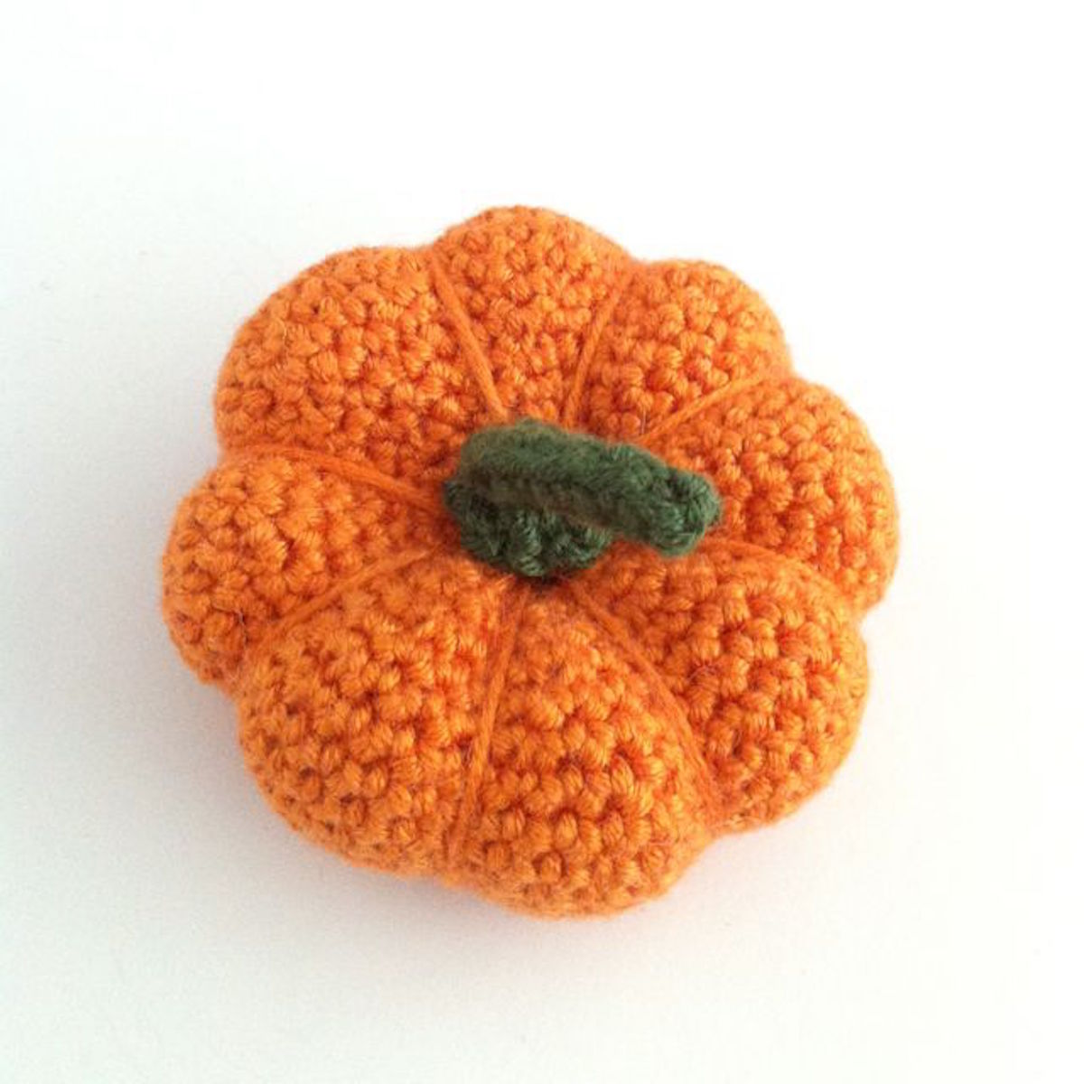 Picture of a hand-crocheted pumpkin