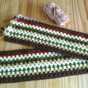 Crochet Granny Stripe Blanket