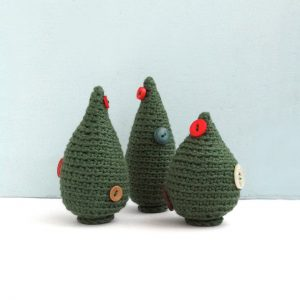 Hand-crocheted Christmas decorations and gifts