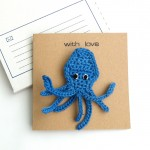 Octopus Brooch Greetings Card