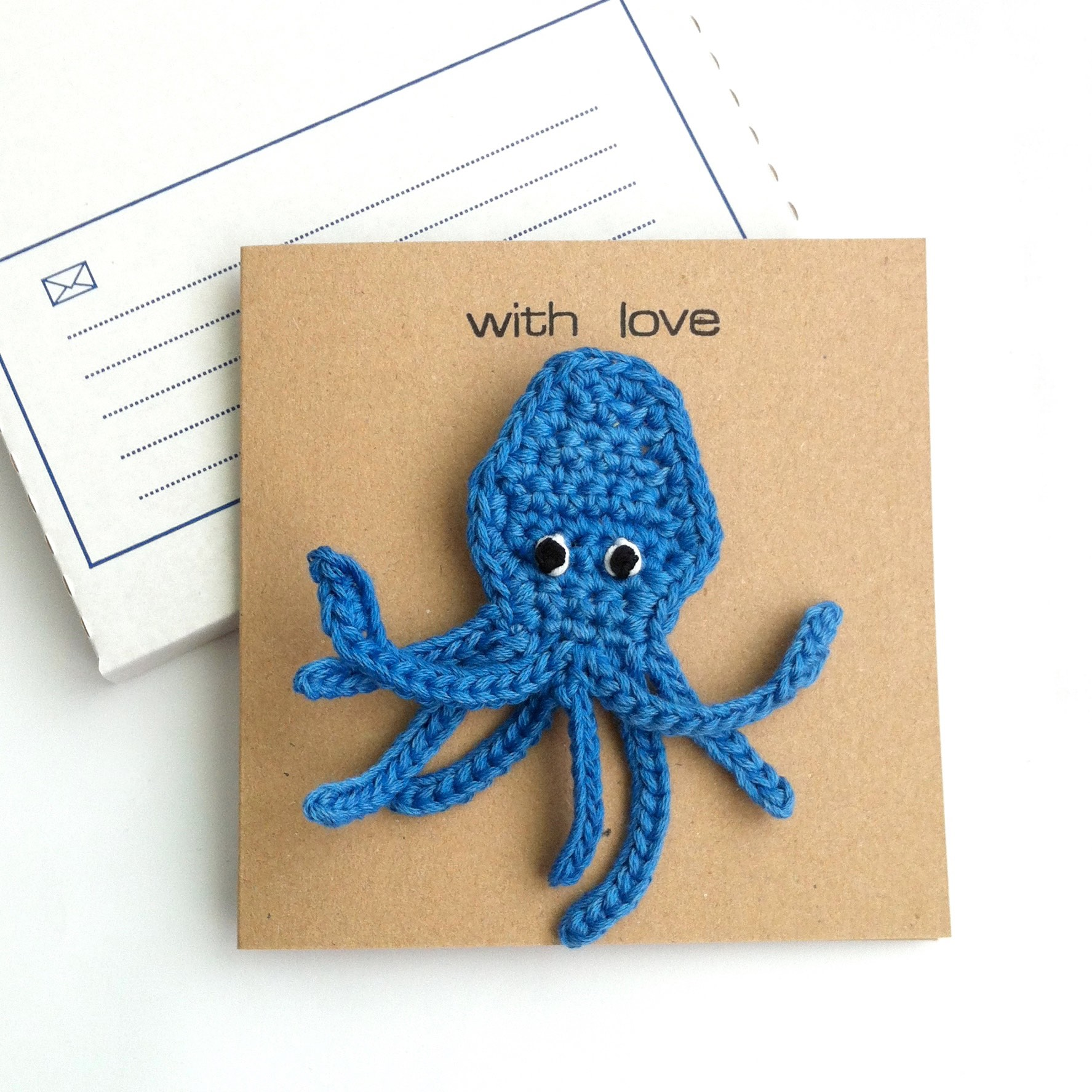 Octopus Brooch Greetings Card