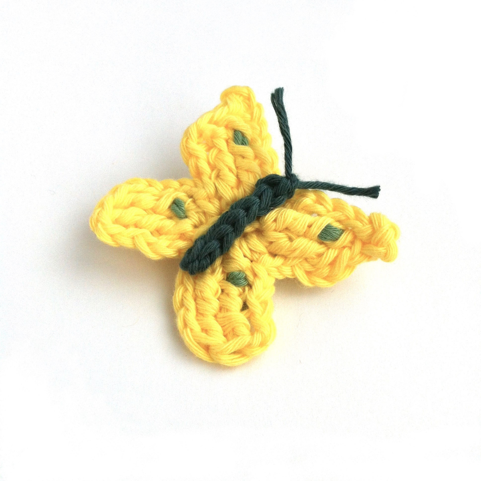 Handmade Butterfly Brooch in Organic Cotton