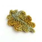Handmade Oak Leaf Brooch in Botanically-dyed Wool