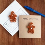 Christmas Card with Gingerbread