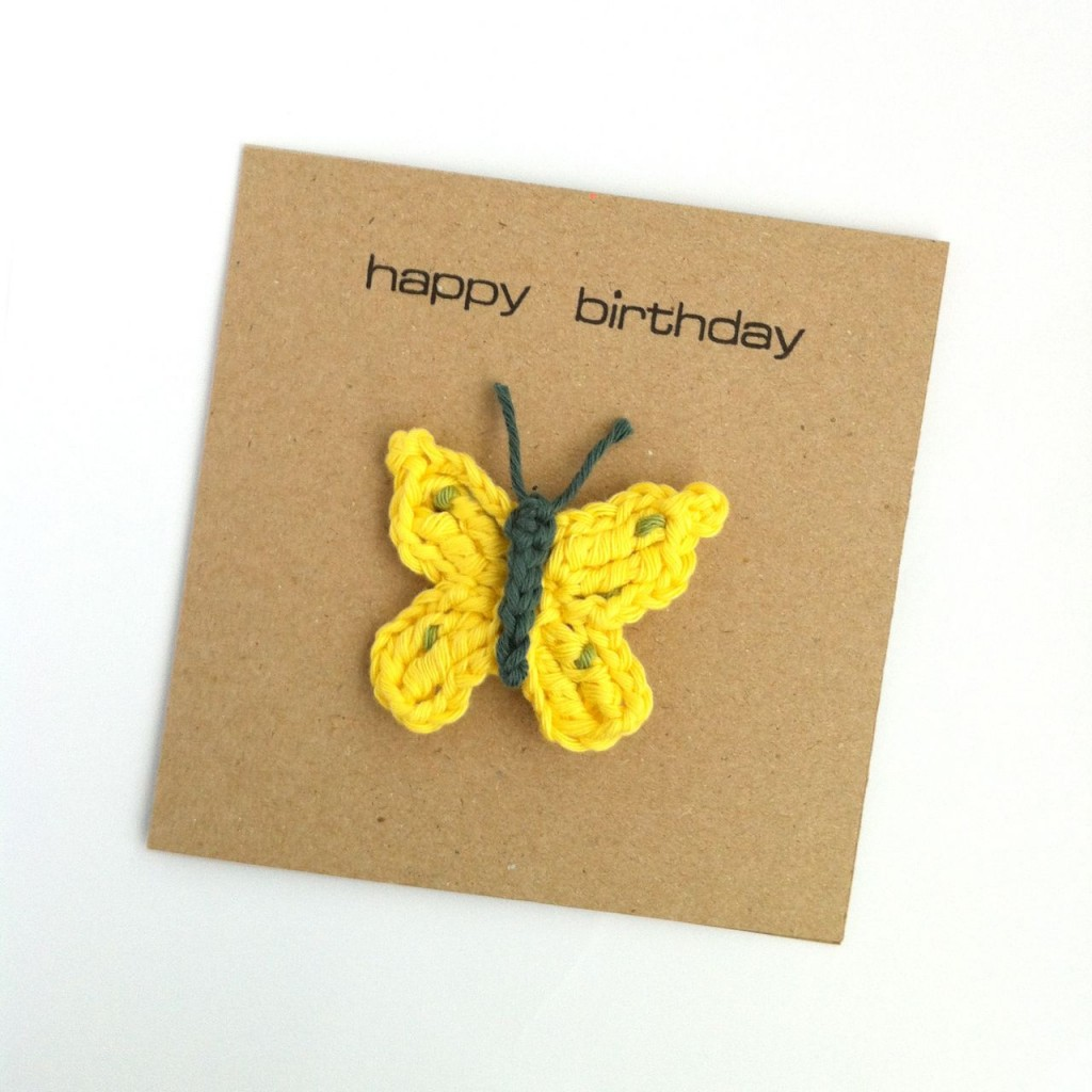 Brimstone Butterfly Brooch Greetings Card