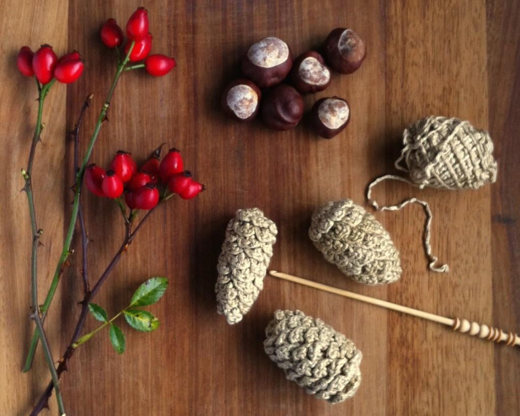 Ready-made Crochet Pine Cones