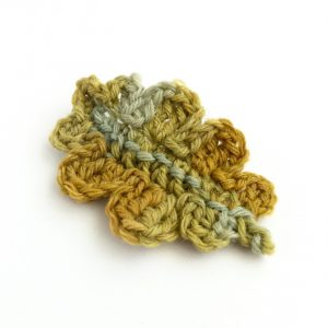 Oak Leaf Brooch in British Wool