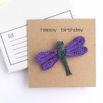 Greetings Card with Dragonfly Brooch