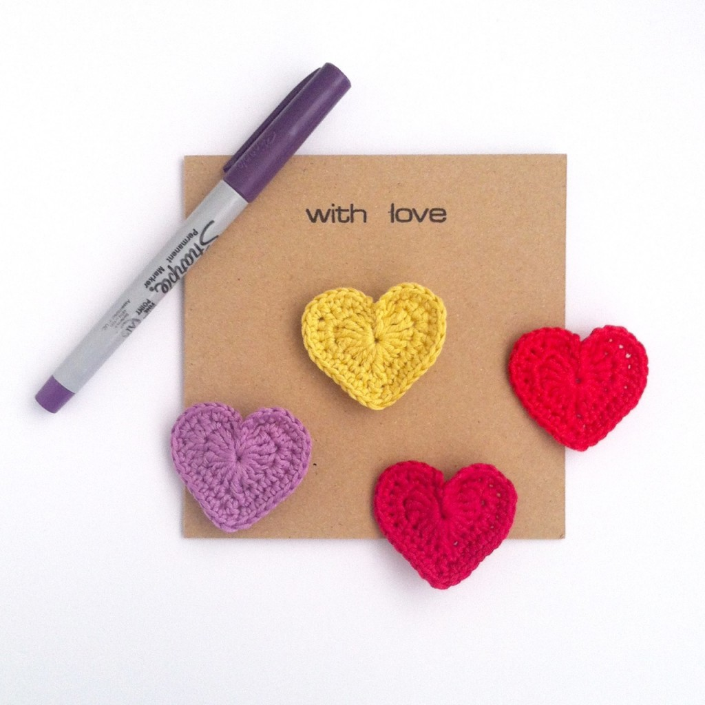 Greetings Card with Heart Brooch