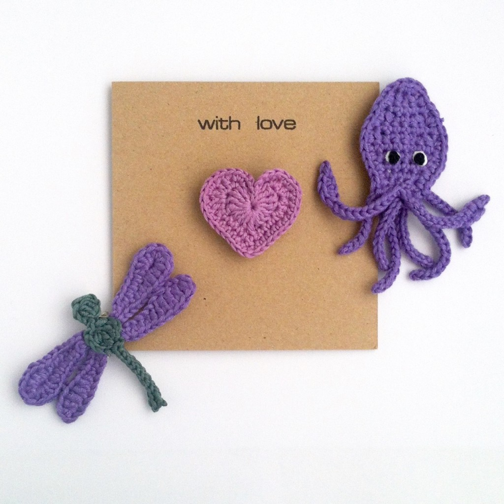 Greetings Cards with Brooches