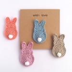 Bunny Brooch Greetings Card