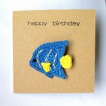 Greetings Card with Fish Brooch