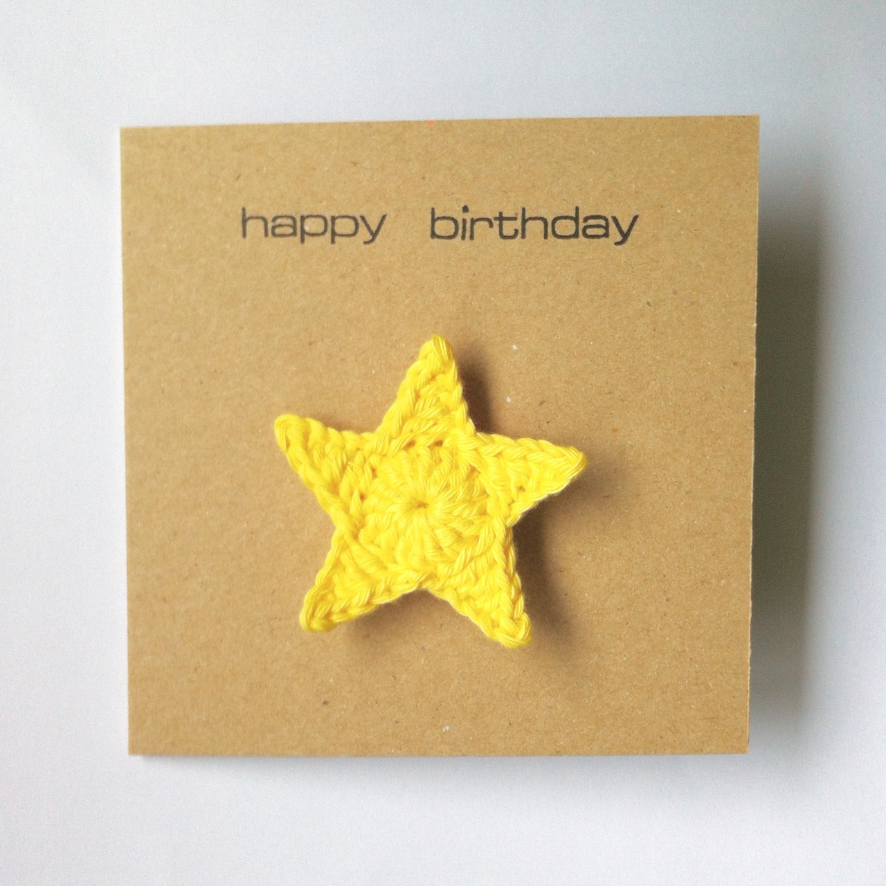 Greetings Card with Star Brooch