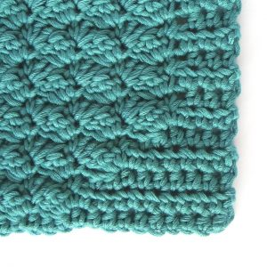 Crocheted wash mitt