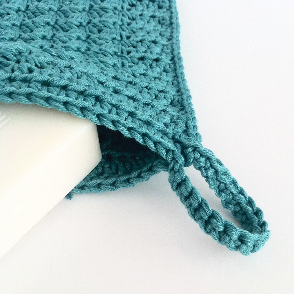 Crochet Wash Mitt with Loop