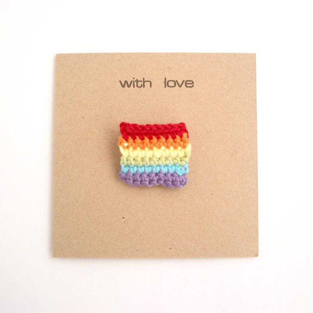 Pride Brooch Greetings Card