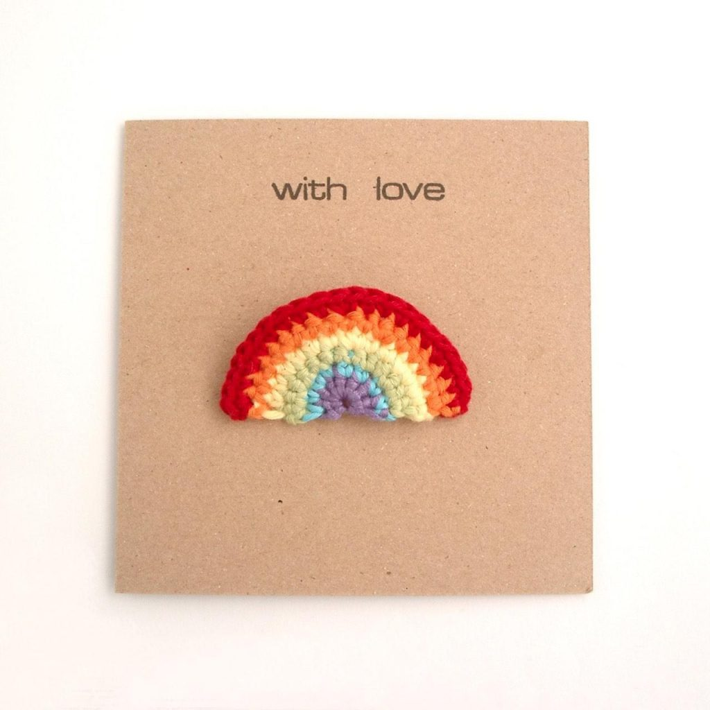 Rainbow Brooch Greetings Card