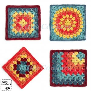 Little Conkers Granny Square Motifs
