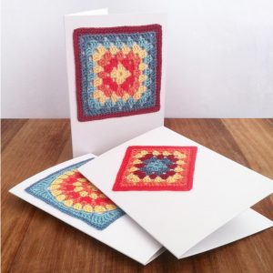 Little Conkers Granny Square Greetings Cards