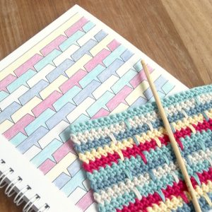Drop Stitch Pattern in Crochet Dreams Colouring Book