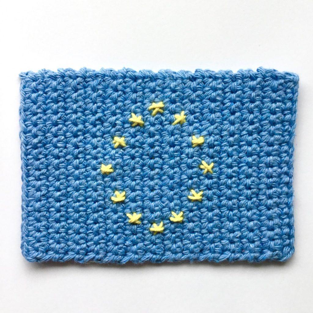 Pattern to crochet an EU Flag