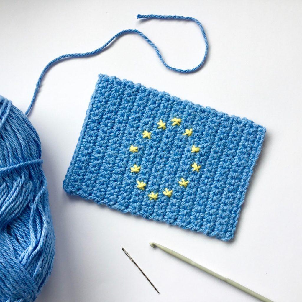 How to crochet an EU Flag