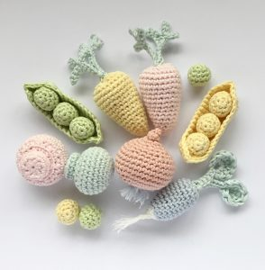 Mini Crocheted Vegetables