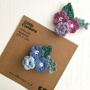 Floral Bouquet Brooch Crochet Flowers