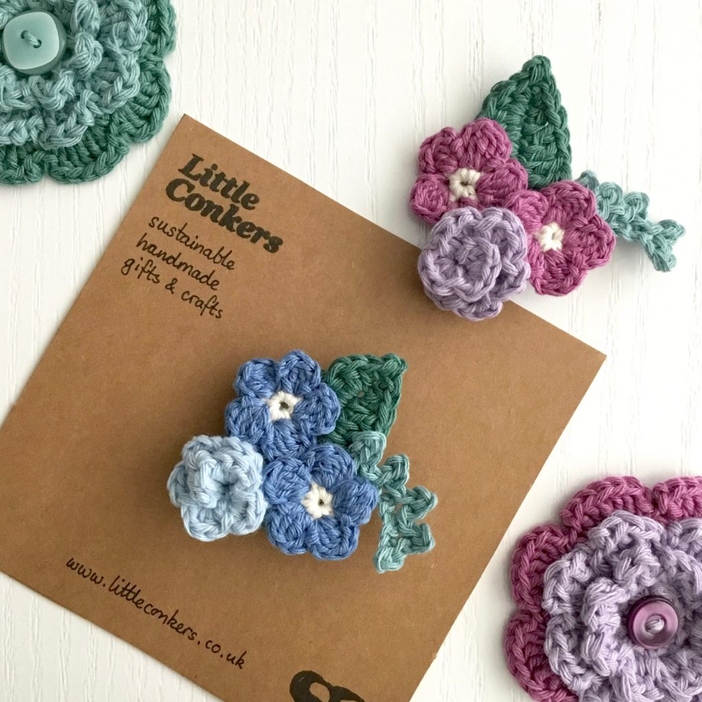 Floral Crocheted Brooches