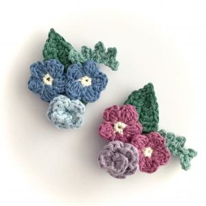 Crochet Flowers Bouquet Brooch