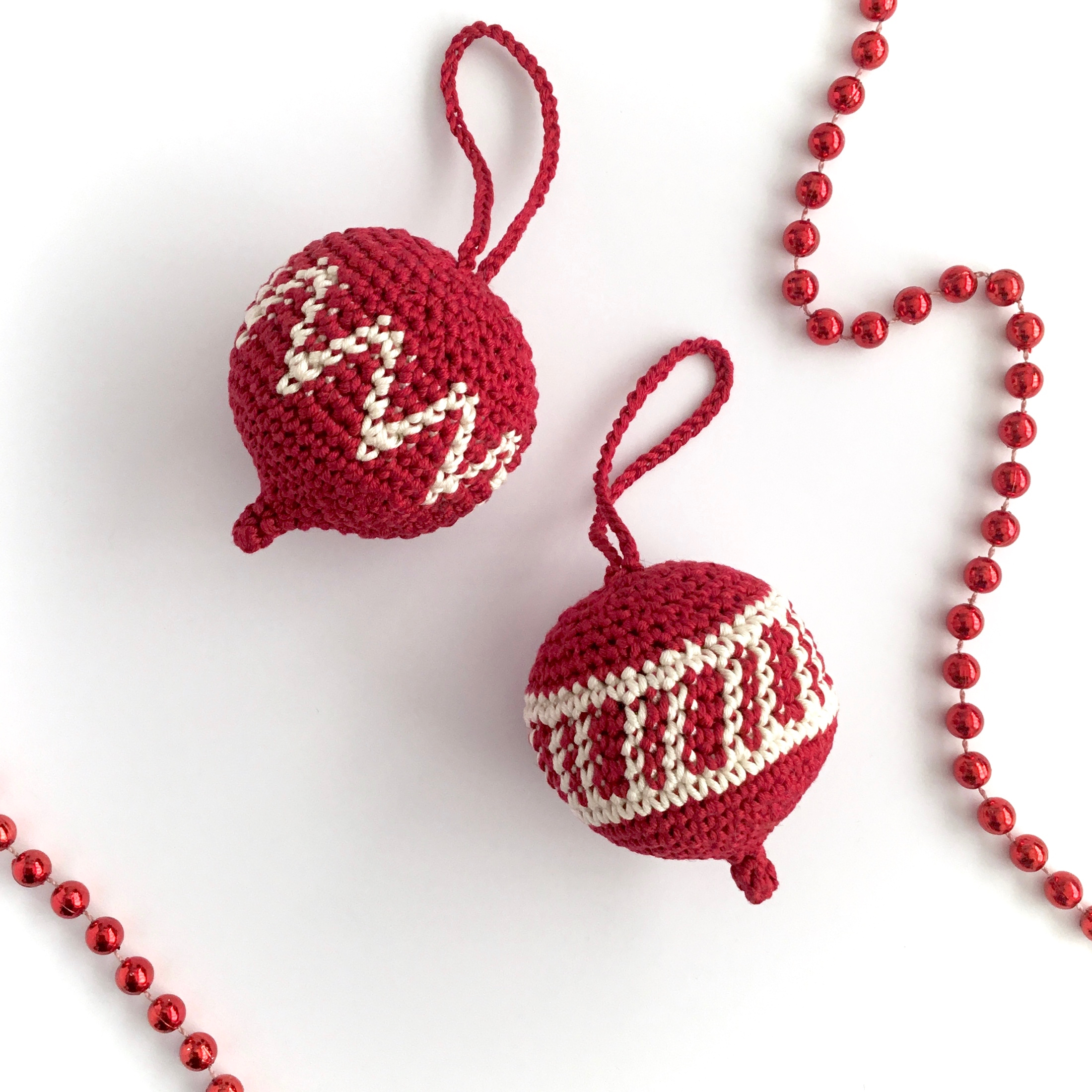 Crochet Christmas Ornament Pattern - Little Conkers
