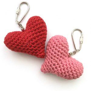 Organic Cotton Heart Key Fobs