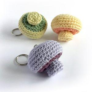 Mushroom Key Rings