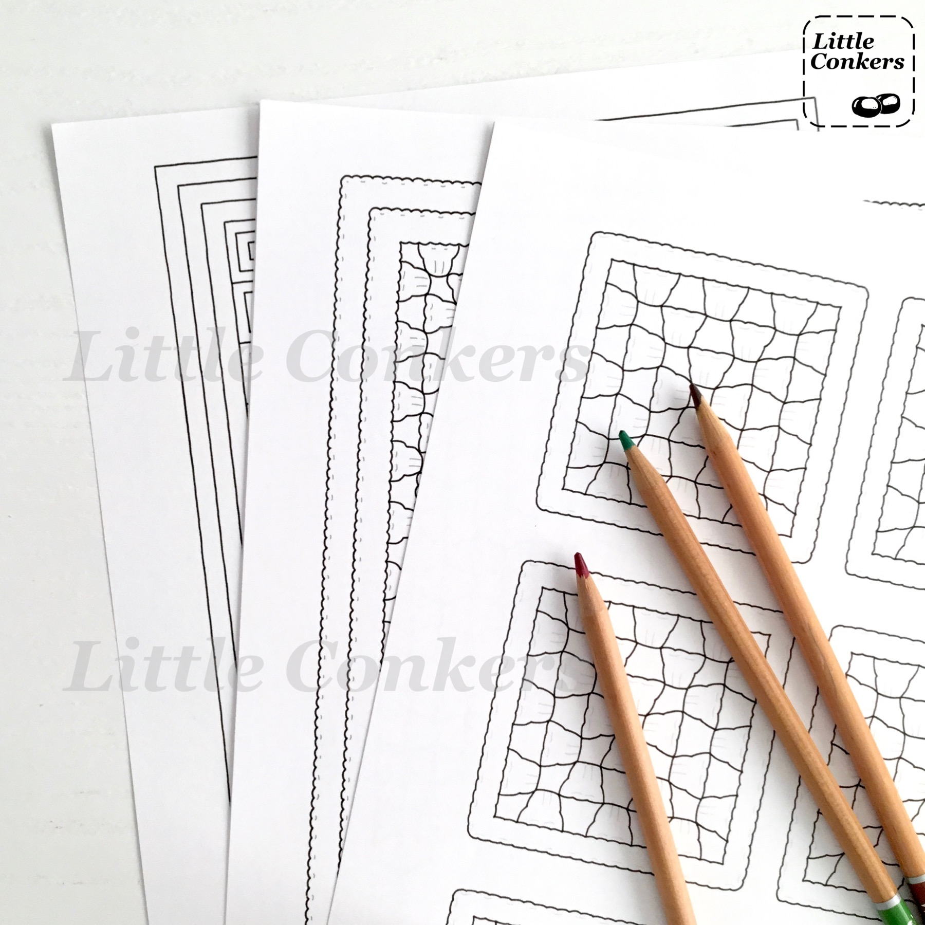 Printable Crochet Colouring Pages by Little Conkers