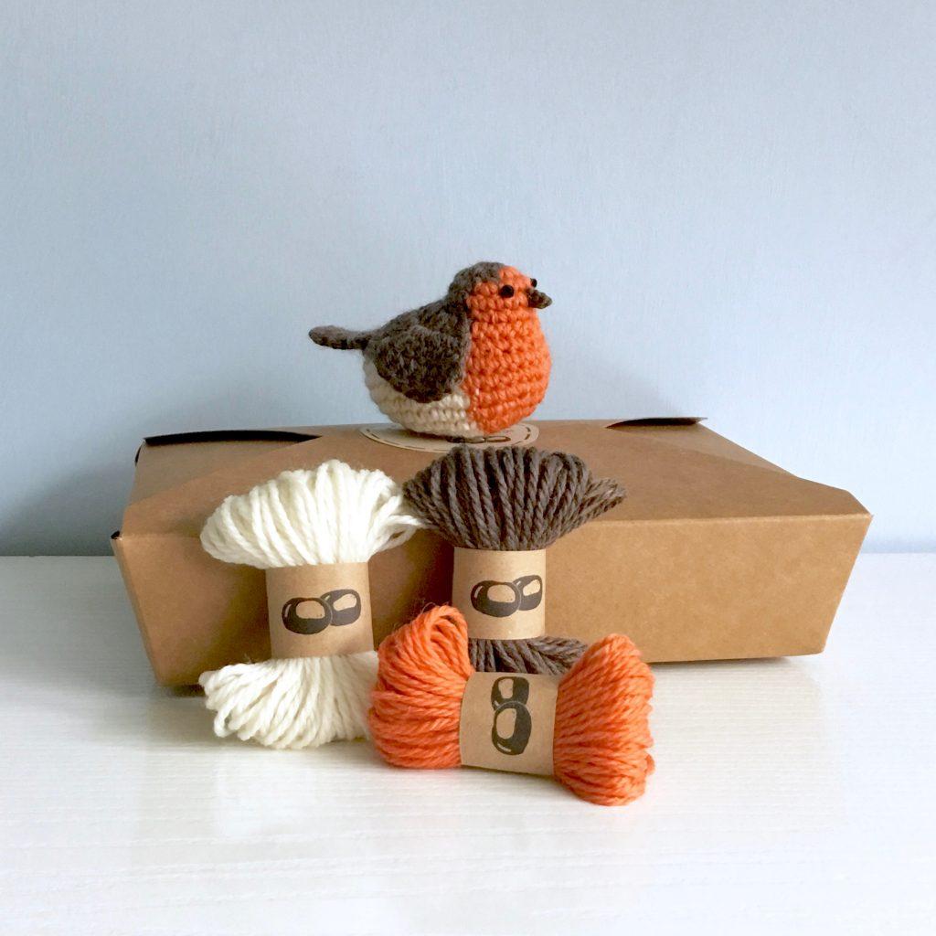 Little Conkers Robin Crochet Kit