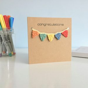 Crochet Bunting Greetings Cards