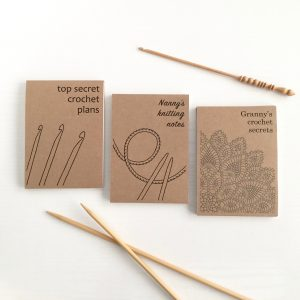 Personalised Notepads for Knitters and Crocheters